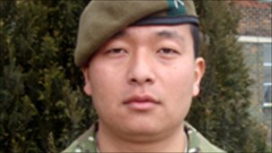 Rifleman Remand Kulung from 1st Battalion The Mercian Regiment