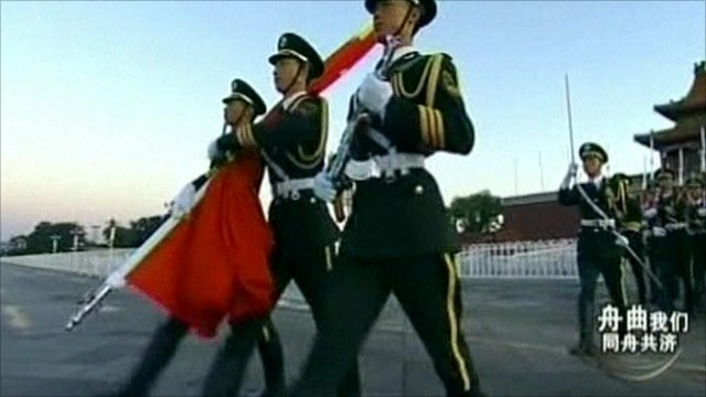 Ceremony in Beijing's Tiananmen Square