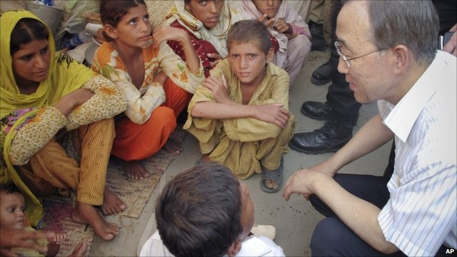UN Secretary General Ban Ki-moon in Pakistan