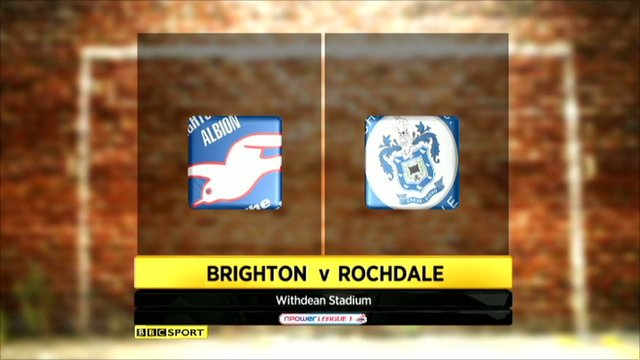 Brighton 2-2 Rochdale