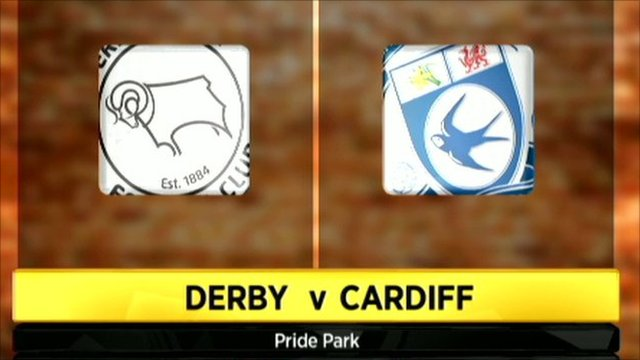 Derby and Cardiff club badges