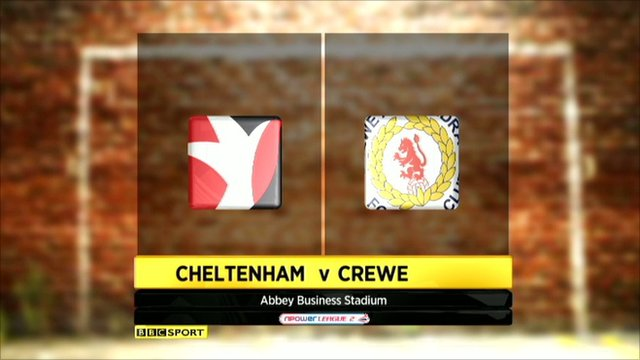 Cheltenham 3-2 Crewe