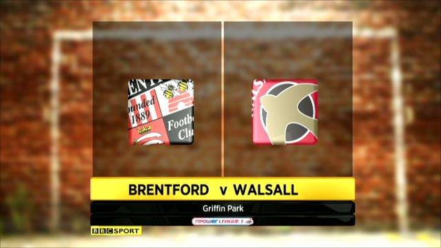 Brentford 1-2 Walsall