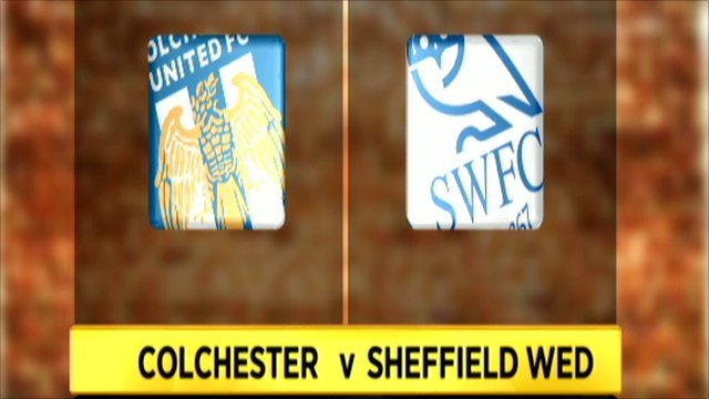 Colchester and Sheffield Wednesday club badges