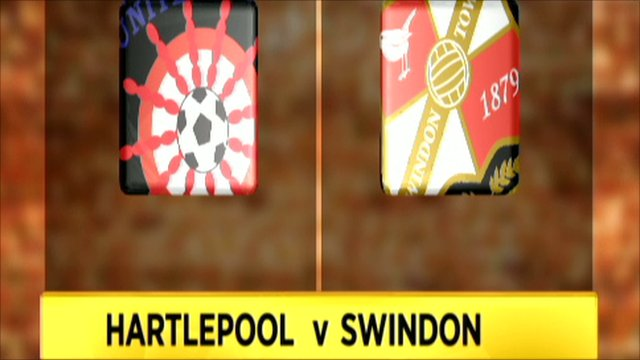 Hartlepool and Swindon club badges
