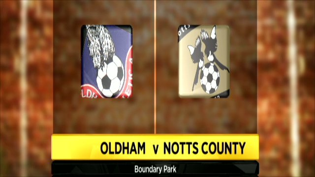 Oldham and Notts County club badges