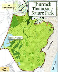 Plan of the proposed Thurrock Thameside Nature Park in Mucking