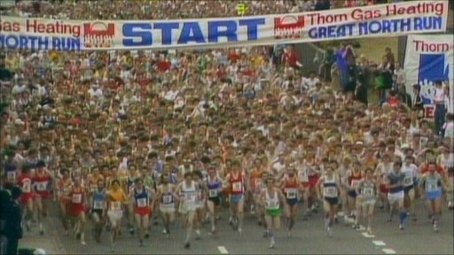 Runners at the first Great North Run