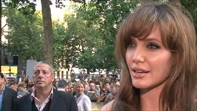 Angelina Jolie has been on the red carpet in London for the premiere of her