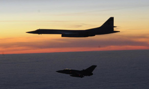 Blackjack bomber intercepted by RAF near Stornaway, March 2010 (Picture: RAF)