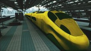 Concept image of high-speed train
