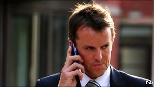 Graeme Swann leaving Nottingham Magistrates' Court