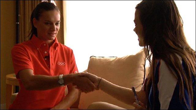 Yelena Isinbayeva inspires GB pole vaulter Katie Byres