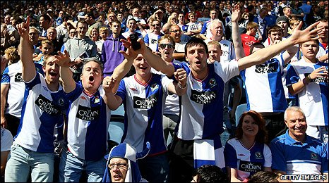Blackburn fans at Ewood Park last Saturday