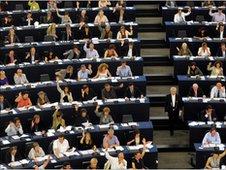 MEPs vote in Strasbourg