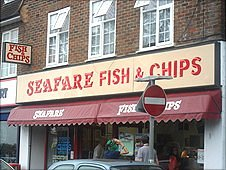 Burpham fish and chip shop