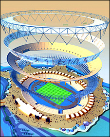 The Olympic Stadium is designed with removable layers