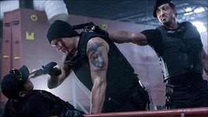 Jet Li, Dolph Lundgren and Sylvester Stallone