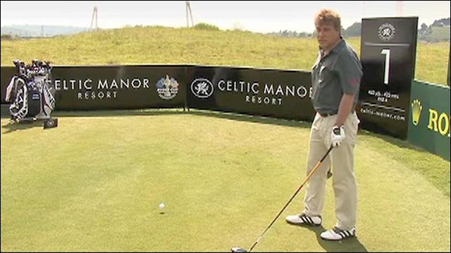 BBC Sport's John Inverdale tries out the Celtic Manor Course in South Wales that will host the 2010 Ryder Cup