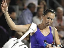 Jelena Jankovic walks off court