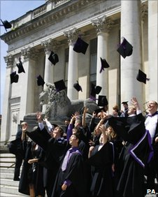 UK graduates (file pic)