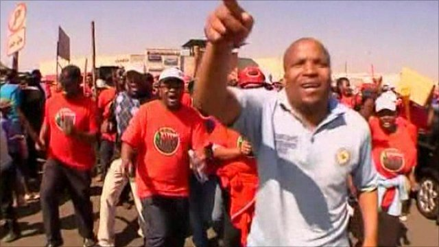 Strikers in Katlehong, South Africa