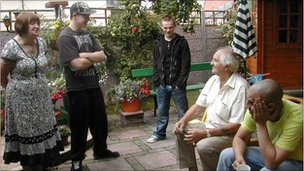 Anne Panks, Anthony Baker, Darryl Breslin, Terry Panks and Nathanial