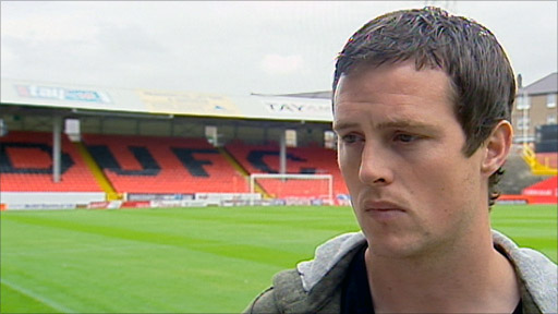 Dundee Utd striker Jon Daly