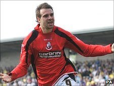 Bournemouth goalscorer Brett Pitman