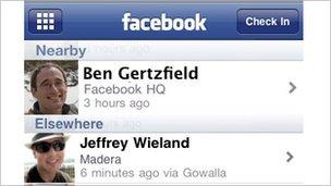 facebook check ins