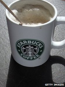 Mug of Starbucks coffee