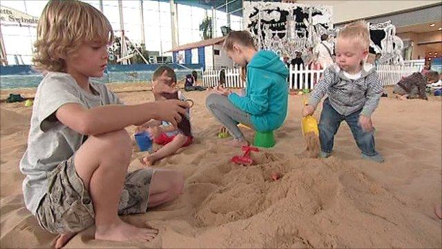 Milton Keynes' imported beach