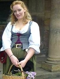 Cara Simmonds in costume at Nottingham Castle