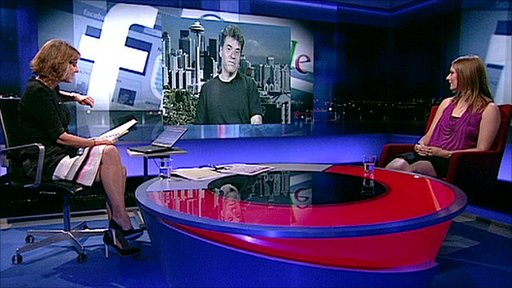 Kirsty Wark, Andrew Keen and Sarah Blow