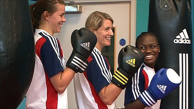 Savannah Marshall Amanda Coulson and Nicola Adams
