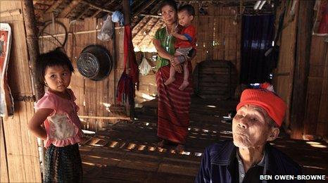 Karen refugees at a camp on the Thai-Burma border
