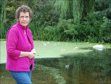 Beryl Sims at the River Gipping, Bramford