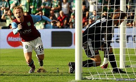 Barry Bannan (left) scores for Aston Villa