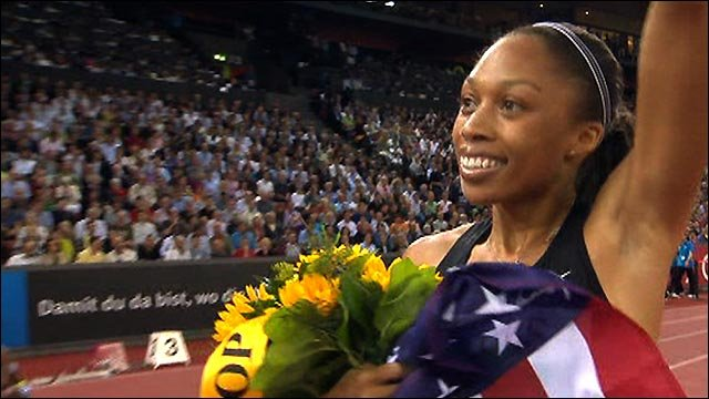 Allyson Felix wins 400m Diamond League crown in Zurich