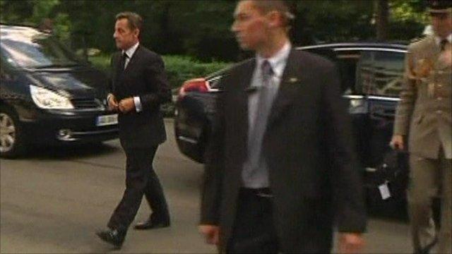President Sarkozy returning from holidays