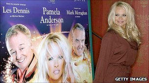 Pamela Anderson promoting Aladdin