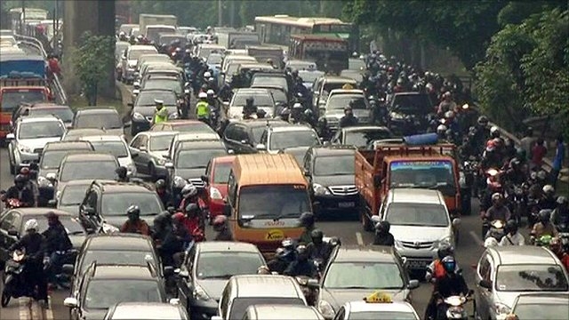 Bad traffic in Jakarta