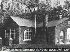 Freckleton Holy trinity School before the disaster, with the Infant's wing to the left
