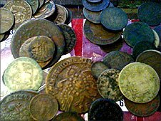 The collection consists of 1500 coins, some dating back 2000 years