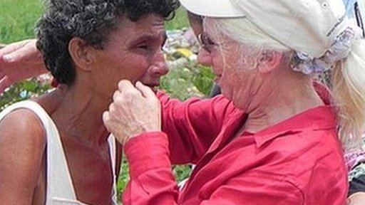 Nancy Webster and woman in Venezuela