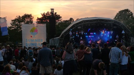 Sunset at Summer Sundae 2010