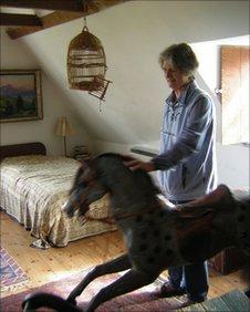 Diana Boston, rocking horse