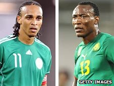 Peter Odemwingie (left) and Somen Tchoyi (right)