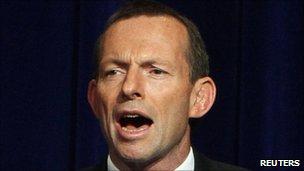 Tony Abbott in Sydney, 21 Aug