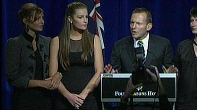 Australian opposition leader Tony Abbott